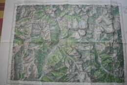"""Carte 1/50000° """" Publ.1936 - Tirage 1940 ?- Sce Géog.Armée - Val D'ALLOS, Haut-Verdon, Val D'Entraunes, Haut Var - Topographical Maps"""