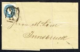 MM N° 22 / Y & T N° 21 - Brief - WIEN Nach INNSBRUCK - 21.6.1861. - Briefe U. Dokumente
