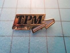 Pin710b Pin's Pins / Beau Et Rare :  TPM RENAULT  Marquage Au Dos : - - - Renault