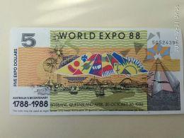 5 Dollari 1988 - 1974-94 Australia Reserve Bank (paper Notes)