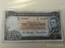 Ten Shillings - 1960-65 Reserve Bank Of Australia