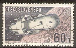TCHECOSLOVAQUIE     -    1962 .   Y&T N° 1210 Oblitéré.   Cosmos  /  Espace - Used Stamps