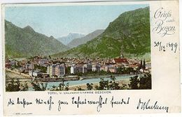 BOZEN GRUSS 1899 TOTAL V. CALVARIEN BERGE GESEHEN - Bolzano