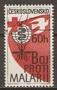 TCHECOSLOVAQUIE     -    1962 .   Y&T N° 1223 Oblitéré.   Malaria  /  Paludisme - Used Stamps