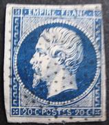LOT R1631/2049 - NAPOLEON III N°14Aa Bleu Foncé - POINTILLES FINS - 1853-1860 Napoléon III