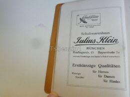 München Munchen Julius Klein Schuhwarenhaus Germany Print Engraving 1912 - Reklame