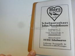 München Munchen Julius Mandelbaum Herz Schuhe Schuhwarenhaus Germany Print Engraving 1912 - Reklame