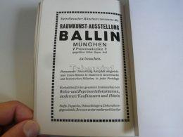München Munchen Raumkunst Ausstellung Ballin Germany Print Engraving 1912 - Reklame