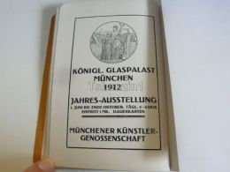 München Munchen Königl. Glaspalast Germany Print Engraving 1912 - Reklame