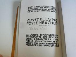 München Munchen Ausstellung Pössenbacher Germany Print Engraving 1912 - Reklame