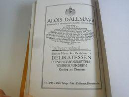 München Munchen Alois Dallmayr Hoflieferant Delikatessen Wein Likör Germany Print Engraving 1912 - Reklame