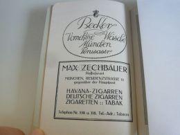 München Munchen Beckdr Vornehme Wasche Max Zechbauer Zigarren Tabak Germany Print Engraving 1912 - Reklame
