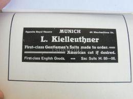 München Munchen L. Kielleuthner Suit Germany Print Engraving 1912 - Reklame