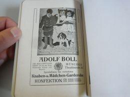 München Munchen Adolf Boll Kindergarderobe Knaben Und Madchen Garderobe Germany Print Engraving 1912 - Reklame