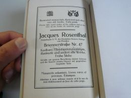München Munchen Jacques Rosenthal Germany Print Engraving 1912 - Reklame
