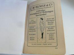 München Munchen C. Wagner & Co. Erstklassige Stumpfwaren Trikotagen Sportartikel Germany Print Engraving 1912 - Reklame