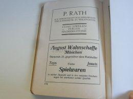 München Munchen P. Rath K. B. Hoflieferant August Wahnschaffe Spielwaren Germany Print Engraving 1912 - Reklame