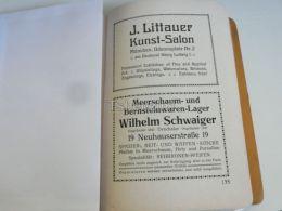 München Munchen J. Littauer Kunst SalonWilhelm Schwaiger Meerschaum Bernsteinwaren Germany Print Engraving 1912 - Reklame
