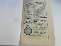 München Munchen Leinenhaus Fraenkel J.C. Schweizer Uhren Germany Print Engraving 1912 - Reklame