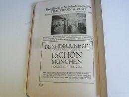 München Munchen Trautmann & Vokt Konditorei Und Schokolade Fabrik J. Schön Buchdruckerei Germany Print Engraving 191 - Reklame