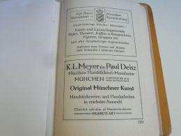München Munchen Porzellan Nymphenburg K.L. Meyer Paul Deisz Handstickerei Manufactur Germany Print Engraving 1912 - Reklame