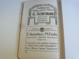 München Munchen B. Tochterman Parfüm Toilette F. Auracher M. Fuchs Französische Und Englisc Germany Print Engraving 1912 - Reklame