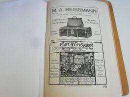München Munchen M. A. Reissmann Lederwaren Reiseartikel Carl Weishaupt Silberschmied Germany Print Engraving 1912 - Reklame