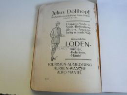 München Munchen Julius Dollhopf Hotel Roter Hahn Elegante Mode Germany Print Engraving 1912 - Reklame