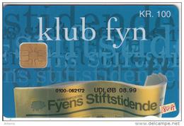 DENMARK - Fyens Stiftstidende Newspaper, Danmont Telecard 100 Kr., Tirage 5000, Exp.date 08/99, Used - Denmark