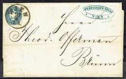 MM N° 33 / Y & T N° 30 - Brief - WIEN Nach BRÜNN - 27/6/1865. - Briefe U. Dokumente