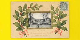 """CAEN Fantaisie """"Bonne Année"""" 1907 () Calvados (14) - Caen"""
