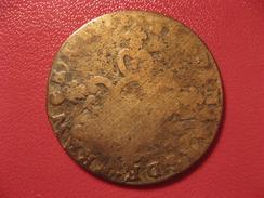 6 Deniers Louis XIV 1712 N Montpellier 8337 - 1643-1715 Louis XIV Le Grand
