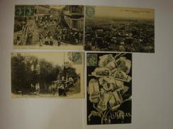 62 LOT DE 4 CARTES  ARRAS LA PROCESSION PANORAMA BEFFROI OUEST ABREUVOIR SAINT NICOLAS MULTIVUES - Arras