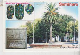 Seminara Reggio Calabria Piazza Vittorio Emanuele Retro Annullo Speciale Condofuri Marina - Reggio Calabria