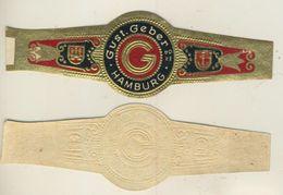 Hamburg - Zigarrenbauchbinde -  Gust.-Geber (51721) - Etiketten