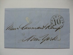 Peru 1862 Entire - Sent Lima Via Steamship 10 To Lanman & Kemp Perfumers New York - Perú