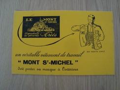 BUVARD MONT SAINT-MICHEL VETEMENT DE TRAVAIL - Buvards, Protège-cahiers Illustrés