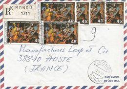 Congo 1980 Kimongo African Legends Registered Cover - Verhalen, Fabels En Legenden