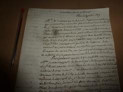1819  Mise En Garde Aux Notaires Peu Scrupuleux Sur Les Insuffisance D'instruction, Par H. De Serre , Garde Des Sceaux - Manuscrits