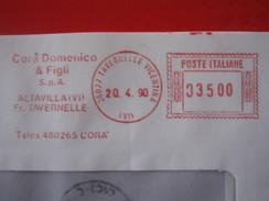 RS2 ITALIA EMA AFFR. MECCANICA ROSSA - 1990 TAVERNELLE VICENTINA VICENZA ALTAVILLA - CORA' DOMENICO E FIGLI SPA TELEX - Affrancature Meccaniche Rosse (EMA)