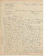 Lettre Commerciale Ancienne/Filatures / Abel VALET/ Roubaix/ Usine à CONTY /Somme/1924      FACT237 - Textile & Vestimentaire
