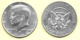 Lot De 2 Pièces USA-half Dollar KENNEDY 1968 En Argent-BE/TBE - Federal Issues