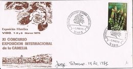 26850. Carta Exposicion VIGO (Pontevedra) 1975. Concurso Camelias, Flowers, Flores - 1931-Hoy: 2ª República - ... Juan Carlos I