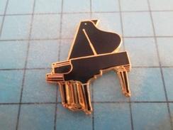 Pin710B Pin's Pins : BEAU ET RARE :  GRAND PIANO NOIR ET MALE - Music