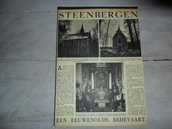 Origineel Knipsel ( 965 ) Uit Tijdschrift :  Steenbergen Bij Leuven  Louvain  2 Blz.  1947 - Vieux Papiers