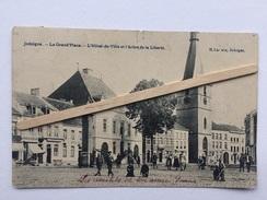 JODOIGNE»La Grand'Place-L'Hôtel-de-Ville Et L'Arbre De La Liberté»animée,commerce J HOUBEAU-GOSSIEAUX (1916)H.Laroche. - Jodoigne