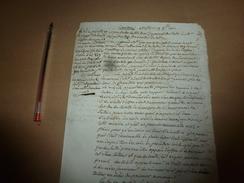 1812  CIRCULAIRE : Il N'y A Point Lieu à L'apposition De Scellés D'office Lorsque Les Mineurs Ont Leur Père Et Mère..etc - Manuscrits