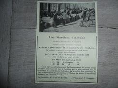 Origineel Knipsel ( 1222 ) Uit Tijdschrift :  Les Marchés D' Assche  Asse - Vieux Papiers