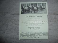 Origineel Knipsel ( 1223 ) Uit Tijdschrift :  Les Marchés D' Assche  Asse - Vieux Papiers