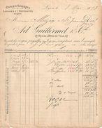 Facture Ancienne/ Châles Soieries/ Mézin Saint Jean Du Gard/Guillermet & Cie/rue Hôtel De Ville/LYON/1893   FACT241 - Textile & Vestimentaire